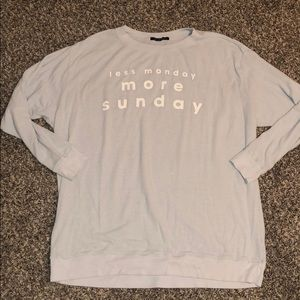 wildfox less monday more sunday sweatshirt